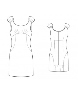 Custom-Fit Sewing Patterns - Empire-Waist Fitted Shift