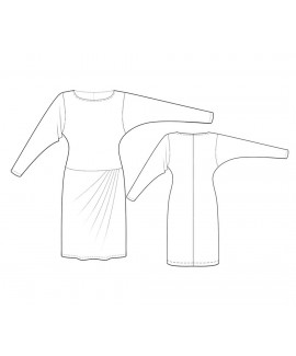 Custom-Fit Sewing Patterns - Dropped-Waist Dress with Dropped Armhole Sleeves
