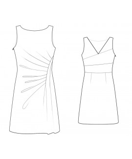 Custom-Fit Sewing Patterns - Boat-Neck Shift with Draping