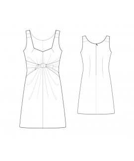 Custom-Fit Sewing Patterns - Adjustable Tie Sweetheart-Neck Shift