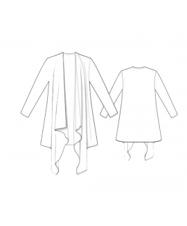 Custom-Fit Sewing Patterns - Open Front Shawl Cardigan