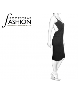 Custom-Fit Sewing Patterns - Backless Wrap Dress