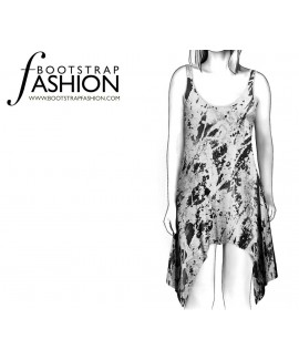 Custom-Fit Sewing Patterns - Sleeveless Scoop-Neck Shift