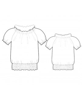Custom-Fit Sewing Patterns - Peasant Style Top