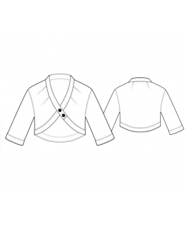 Custom-Fit Sewing Patterns - V-Neck Feature Crop Jacket