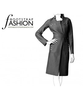 Custom-Fit Sewing Patterns - Military Style Fitted Coat