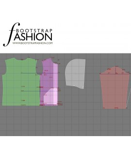 Custom-Fit Sewing Patterns - Zipper Front Knit Hoodie