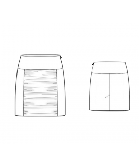 Custom-Fit Sewing Patterns - Ruched Front Block Skirt