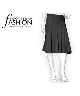 Custom-Fit Sewing Patterns - 8 Gore Skirt