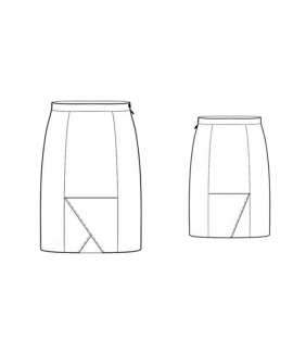 Custom-Fit Sewing Patterns - Flip Flap Front Pencil