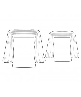 Custom-Fit Sewing Patterns - Boat-Neck Top with Balloon Sleeves