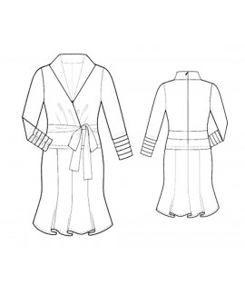 Custom-Fit Sewing Patterns - Pleated Wrap Dress