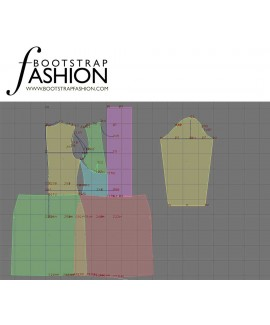 Custom-Fit Sewing Patterns - Fitted Dress with Draped Collar