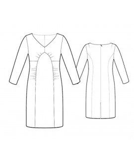 Custom-Fit Sewing Patterns - Fitted V-Neck Dress
