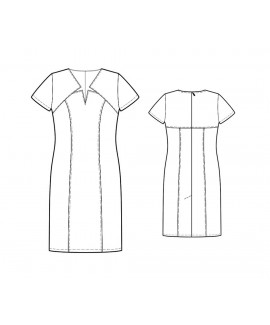 Custom-Fit Sewing Patterns - Princess Star-Necked Dress