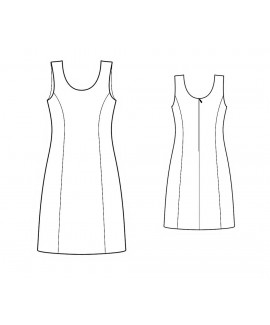 Custom-Fit Sewing Patterns - Princess-Style Sleeveless Dress