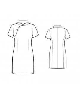 Custom-Fit Sewing Patterns - Asian-Style Fitted Dress