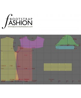 Custom-Fit Sewing Patterns - Puff Sleeved Knit Turtleneck