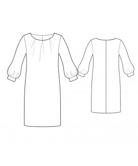 Custom-Fit Sewing Patterns - Pleated Scoop Neck Dress