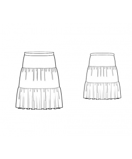 Custom-Fit Sewing Patterns - Triple Tiered Skirt