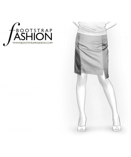 Custom-Fit Sewing Patterns - Just Above The Knee Cut-Out Skirt