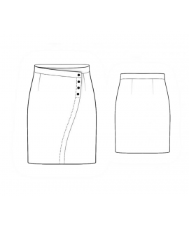Custom-Fit Sewing Patterns - Side Buttoned Pencil