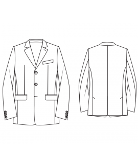 Made-To-Measure Modern Fit 3 Button Men's Jacket With Step-by-Step Instructions