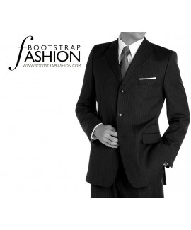 Made-To-Measure Modern Fit 3 Button Men's Jacket
