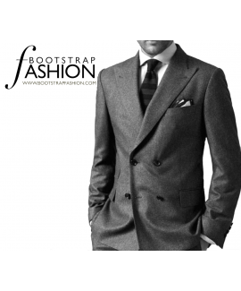 Made-To-Measure Modern Fit Double Breasted Men's Jacket