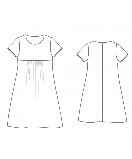 Custom-Fit Sewing Patterns by Yuliya Raquel - Ruched Tunic Dress