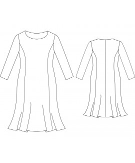 Custom-Fit Sewing Patterns - Basic Block Dress with Princess Seams And Trumpet Skirt