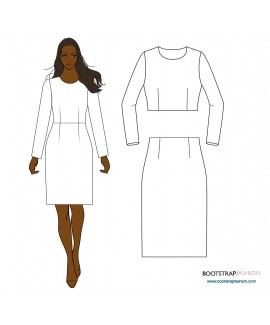 New and Improved! Exclusive CustomFit Sewing Patterns  - Sloper (Basic Block)  Woven with Waist Darts
