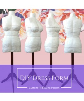 Exclusive! Missy Fit DIY Stuffed Dress Form Body Replica Made To Measure Sewing Pattern.