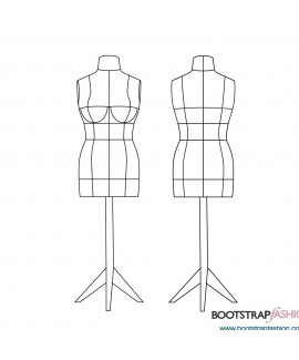 DIY Stuffed Dress Form in Standard Sizes 2-14. Includes 7 Sewing Patterns in Letter Format, Complete Step-by-Step Sewing Photo-Guide.