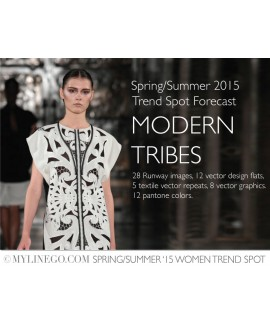Custom-Fit Sewing Patterns - Modern Tribes - SS '15 Women Trend Spot