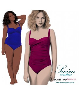 Exclusive! Custom-Fit Swimwear: One-piece Swimsuit With Twisted Bodice. Includes Step-by-Step Illustrated Sewing Instructions
