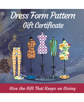 Custom-Fit Dress Form Sewing Pattern Gift Card