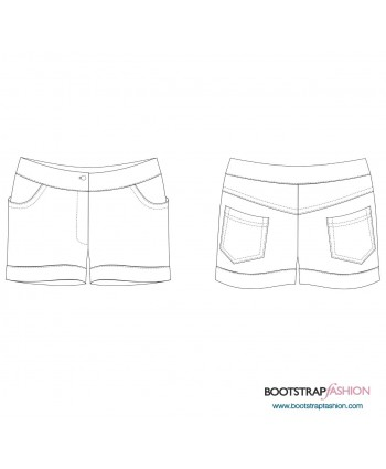 Custom-Fit Sewing Patterns - Exclusive! Komani Designs Made-To-Measure Shorts. Illustrated Step-by-Step Sewing Instructions Included.