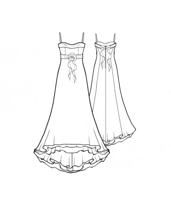 Custom-Fit Sewing Patterns - Bridal Chiffon Gown