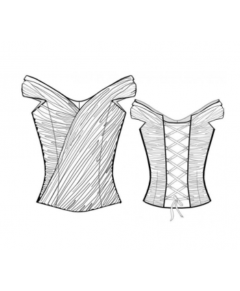 Custom-Fit Sewing Patterns - Formal Off Shoulder Corset
