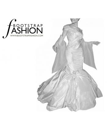 Custom-Fit Sewing Patterns - Elegant Stole