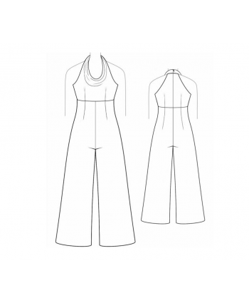 Custom-Fit Sewing Patterns - Wide Leg Halter Jumpsuit