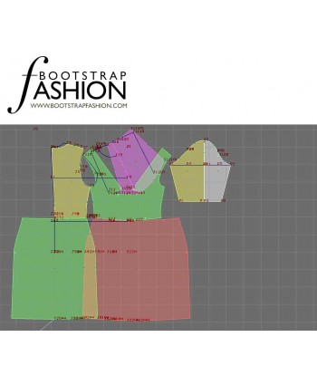 Custom-Fit Sewing Patterns - Draped Neck Knit Dress