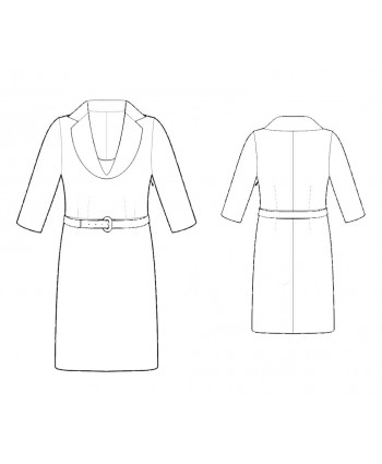 Custom-Fit Sewing Patterns - Draped Lapel Dress
