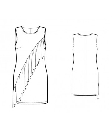 Custom-Fit Sewing Patterns - Sleeveless Shift with Ruffle