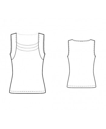 Custom-Fit Sewing Patterns - Knit Tank Top