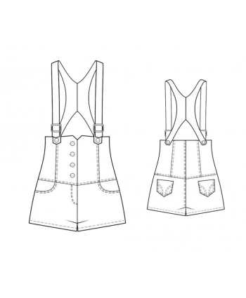 Custom-Fit Sewing Patterns - Razor Back Shortalls