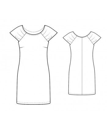 Custom-Fit Sewing Patterns - Ruched Sleeves Knit Dress