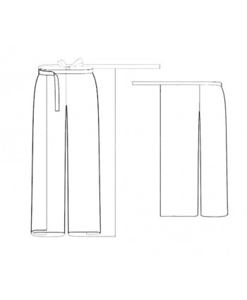 Custom-Fit Sewing Patterns - Wrap Palazzo Pants