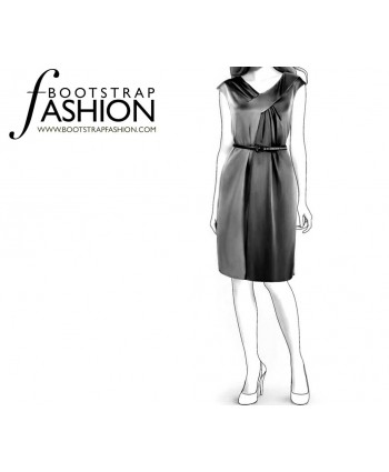 Custom-Fit Sewing Patterns - Draped V-Neck Dress